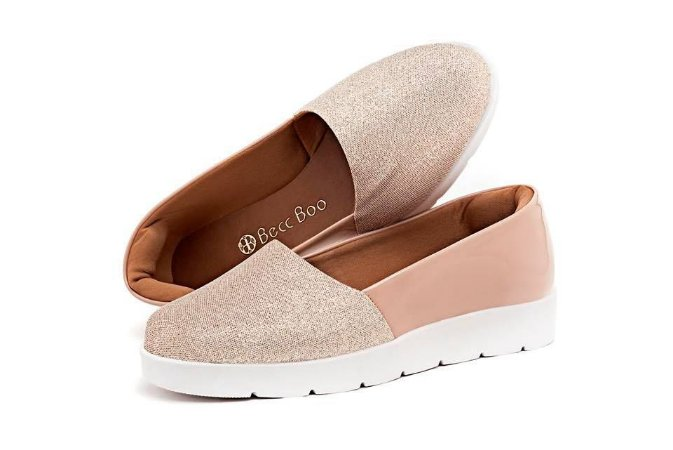 Tênis Slip-On Rose Casual Feminino
