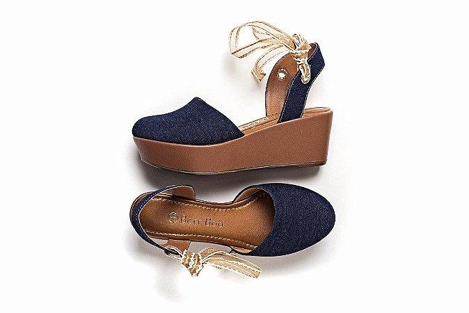 Sandália Plataforma Azul Jeans