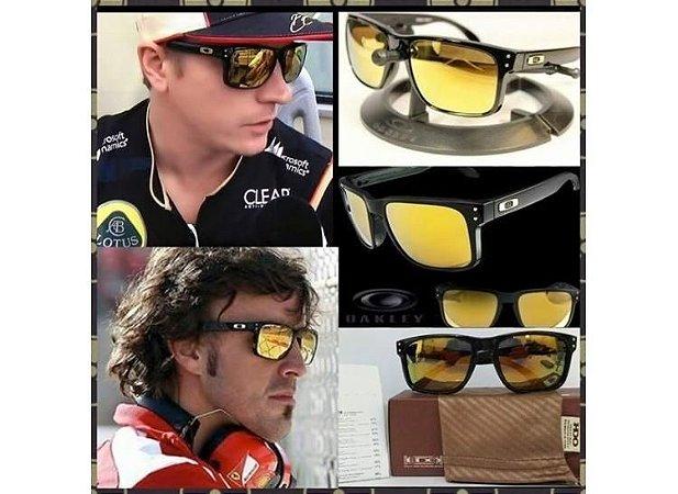 75536d5364249 Oculos Oakley Holbrook preto com dourado - Dalu Importados