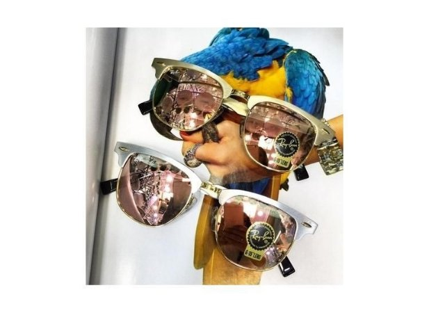 6a2883e19fa48 Rayban Clubmaster Aluminío Espelhado Rosa - Dalu Importados