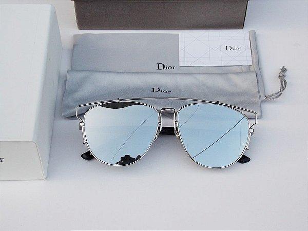 ca0d6a4b1b150 Óculos Dior Thecnologic Prata - Dalu Importados