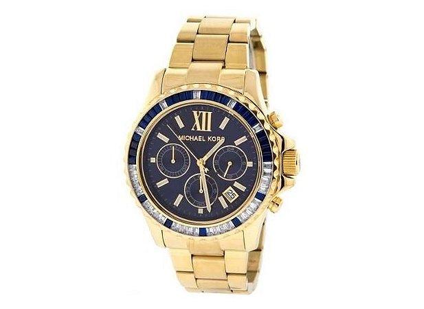 38d94316abb Relógio Michael Kors Mk5754 Dourado Azul - Dalu Importados