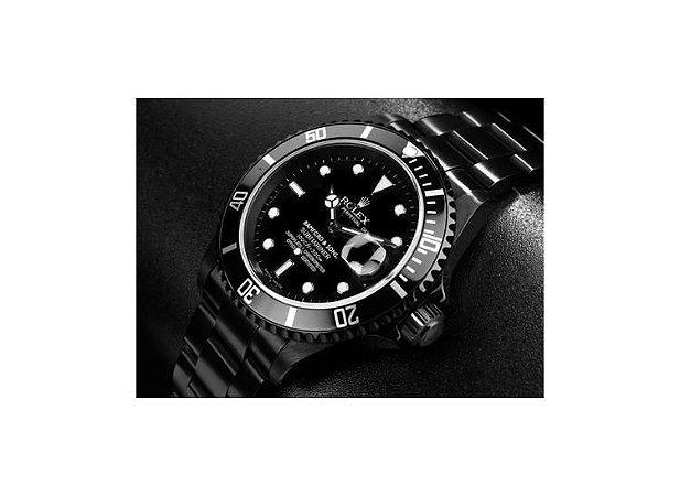 375d132f598 Relogio Rolex Submariner Black Total - Dalu Importados