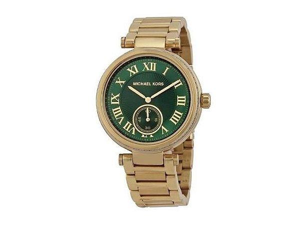 d460551cf7141 Relógio Feminino Michael Kors Dourado Mk6065 - Dalu Importados