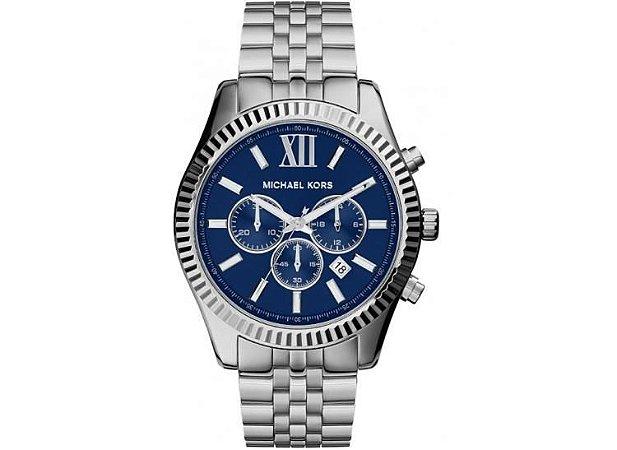 Relógio de Luxo Michael Kors Mk8280 Chron Anal Prata Imaculad - Dalu ... 91b356def0