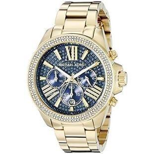 d1ba3701975 Relógio de Luxo Michael Kors Mk6291 dourado com cristais azul - Dalu ...