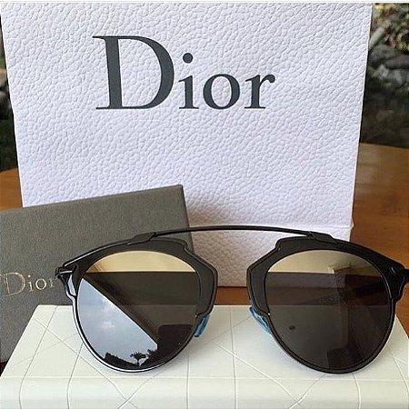 c5719eefa4335 Óculos dior só real preto com prata - Dalu Importados