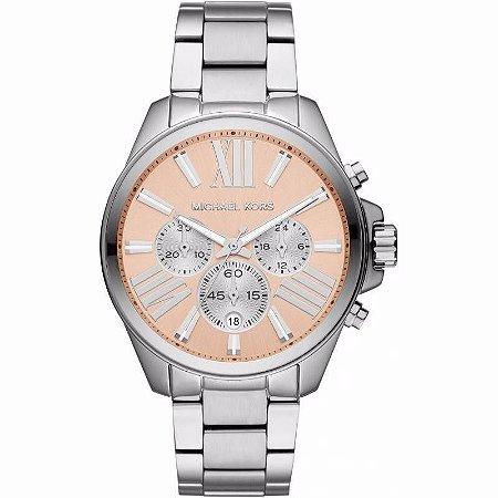7453c02199d7e Relógio Feminino Michael Kors Mk5837 Prata rosa - Dalu Importados