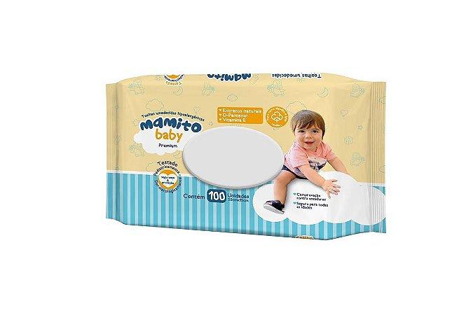 Toalhas Umedecidas Mamito Baby PREMIUM com 100 Folhas