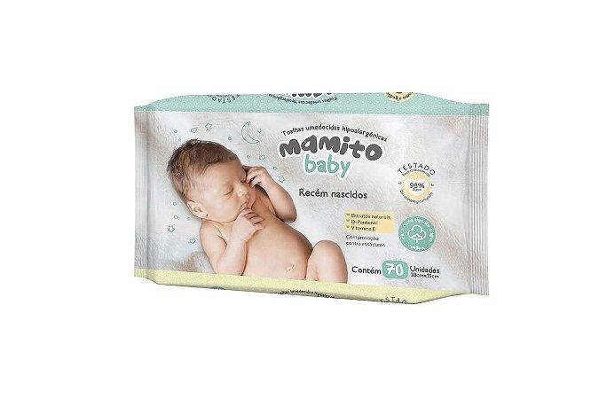 Toalhas Umedecidas Mamito Baby RN com 70 Folhas