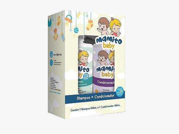 Kit Shampoo 500ml + Condicionador 500ml - Mamito Baby