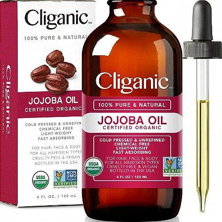 Cliganic Óleo Jojoba Organic 100% Puro e Narural - 120ml