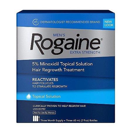 Rogaine Extra Strength Minoxidil 5% - Suprimento de 3 Meses - 60ml