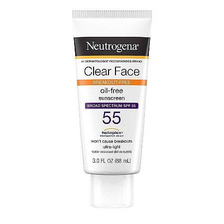 Neutrogena Clear Face Breakout Free Broad Spectrum SPF 55 - 88ml