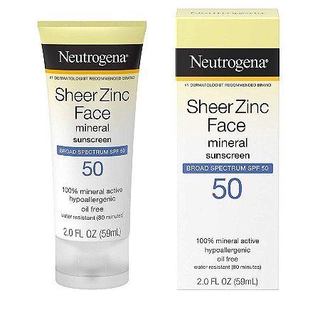 Neutrogena Sheer Zinc Face Mineral Broad Spectrum SPF 50 - 59ml