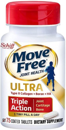 Move Free Joint Health Ultra Type II Collagen + Boron + HA - 75 comprimidos
