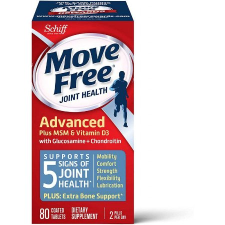 Move Free Joint Health Advance Plus MSM & Vitamin D3 - 80 Tablets