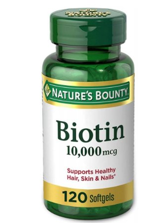 Nature's Bounty Biotin 10,000 mcg - 120 Softgels