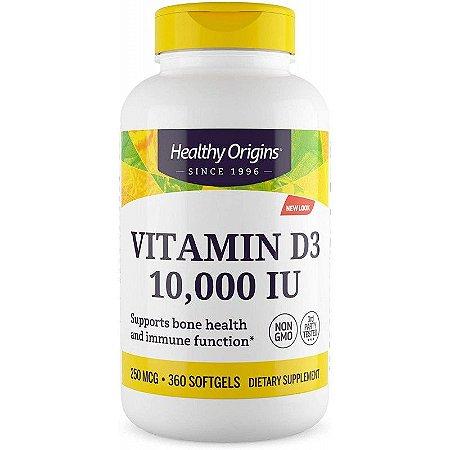 Vitamina D3 10,000 IU Healthy Origins - 360 Cápsulas