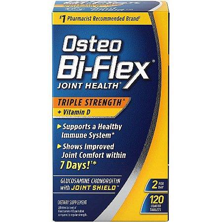 Osteo Bi-Flex Joint Health Triple Strength + Vitamina D - 120 Tablets