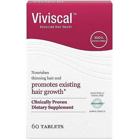 Viviscal Suplemento de crescimento de cabelo para mulheres - 60 comprimidos