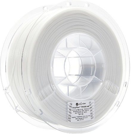 Filamento TPU95HF White 1,75mm 1Kg Polyflex