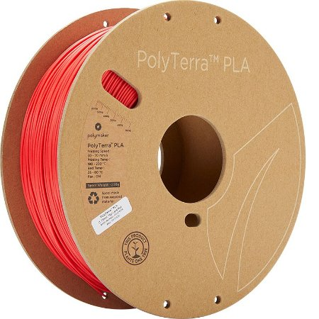 Filamento PLA Lava Red 1,75mm 1Kg Polyterra