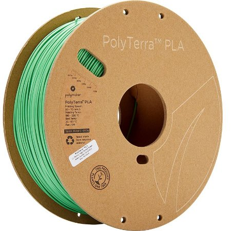 Filamento PLA Forrest Green 1,75mm 1Kg Polyterra