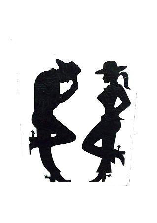 Adesivo Cowboy e Cowgirl Grande