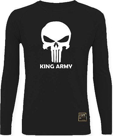 CAMISETA STYLE KING BRASIL - ARMY PRETO/BRANCO