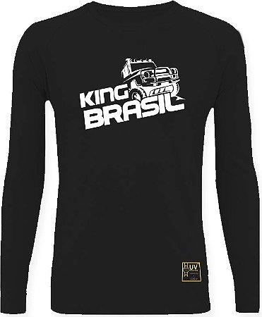 CAMISETA STYLE KING BRASIL - OFF ROAD PRETO/BRANCO