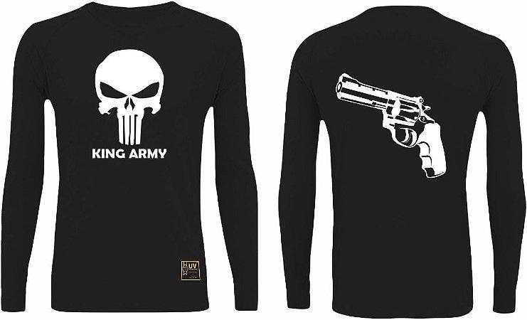 CAMISETA STYLE KING BRASIL - ARMY 38 PRETO/BRANCO