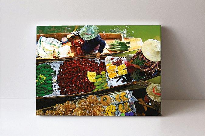 Quadro em Canvas Frutas Lago