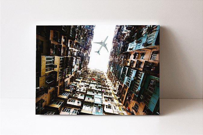 Quadro em Canvas Apartamentos antigos Hong Kong