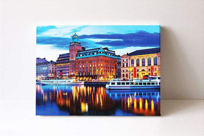 Quadro em Canvas Elegante e icônico hotel no coração de Estocolmo