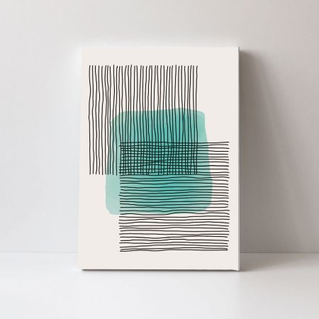 Quadro em Canvas Abstrato Moderno Colors Verde Fundo