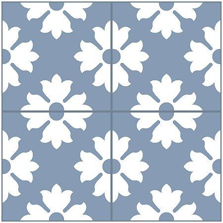 Adesivo de Azulejo Floral
