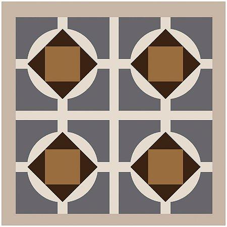 Adesivo de Azulejo Four Brown Flowers