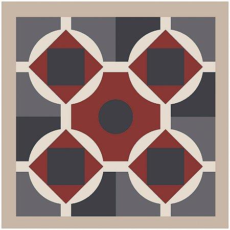 Adesivo de Azulejo Four Red Flowers