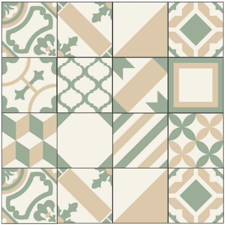 Adesivo de Azulejo Patchwork Geometrico