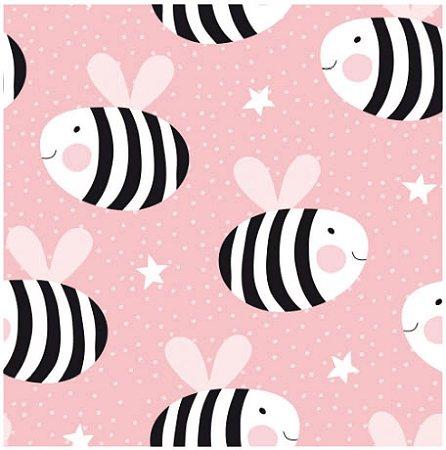 Adesivo de Azulejo Pink Bee
