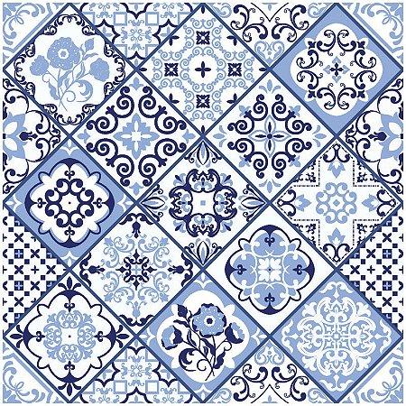 Adesivo de Azulejo Portugues Patchwork Azul