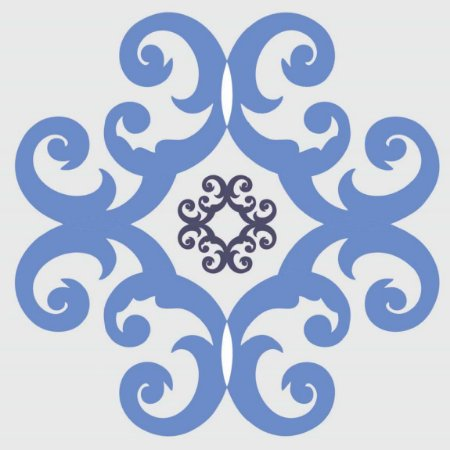 Adesivo de Azulejo Floral Arabesco Azul