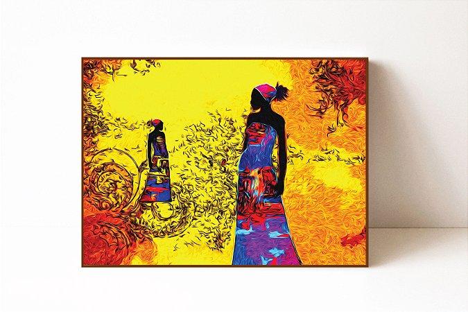Quadro em Canvas Africa Retro Vintage