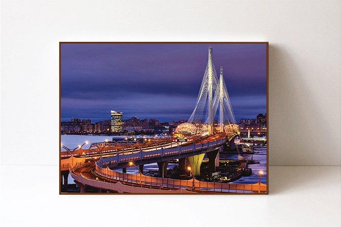 Quadro em Canvas Ponte em São Petersburgo