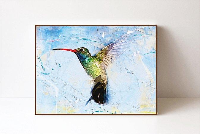 Quadro Bird Fundo Aquarela