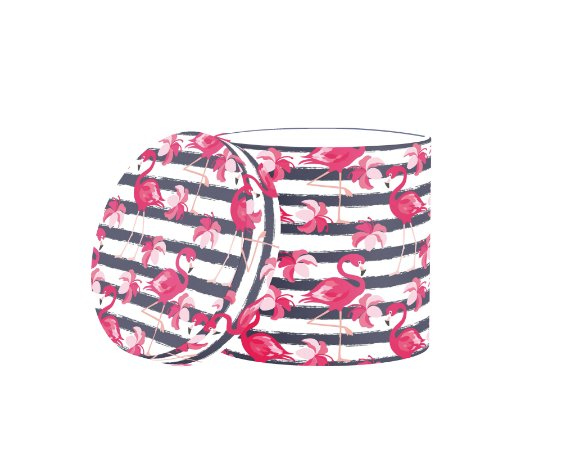 Caixa Redonda Flamingo Completo
