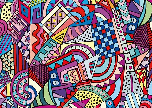 Jogo Americano Abstrato Bem Colorido