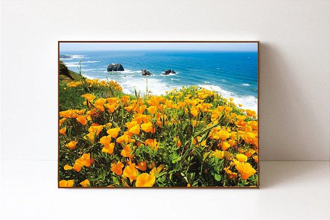 Quadro em Canvas Flores Califórnia