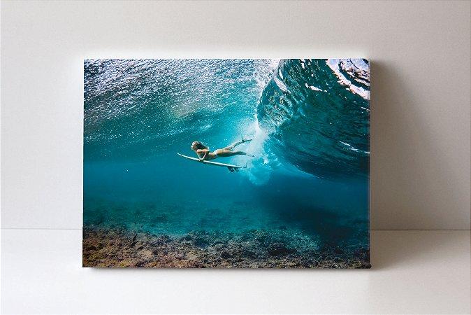 Quadro em Canvas Mulher e Mar
